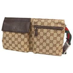 GUCCI body bag Womens Waist bag 28566 beige x brown