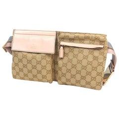 GUCCI body bag Womens Waist bag 28566 beige x pink