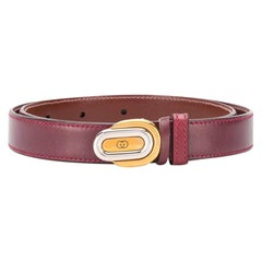Gucci Bordeaux Mini GG Buckle Belt