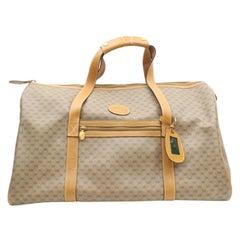 d1a04a04ba0 Gucci Boston Micro Gg Duffle 869746 Brown Coated Canvas Weekend Travel Bag