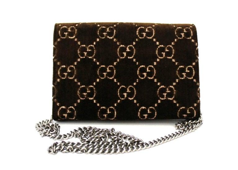 Black Gucci Brawn Velvet Dionysus Bag For Sale
