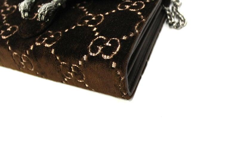 Women's Gucci Brawn Velvet Dionysus Bag For Sale
