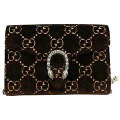 Gucci Brawn Velvet Dionysus Bag