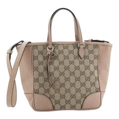 Gucci Bree Convertible Tote GG Canvas with Leather Small