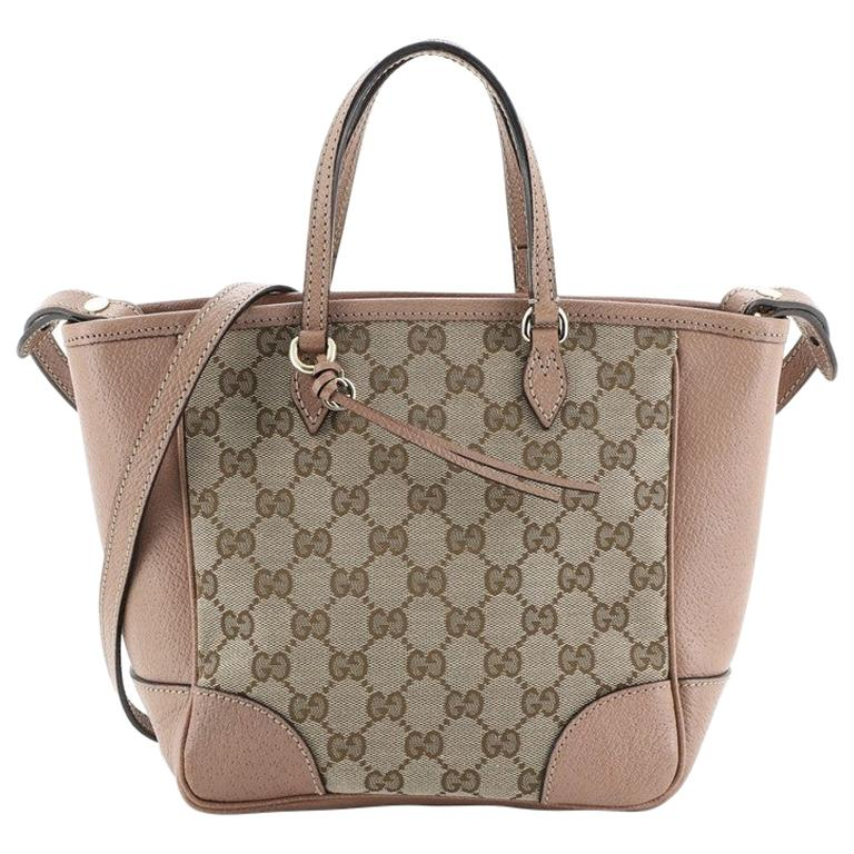 Gucci Bree Convertible Tote GG Canvas with Leather Small For Sale