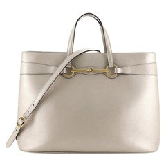 Gucci Bright Bit Convertible Tote Leather Large