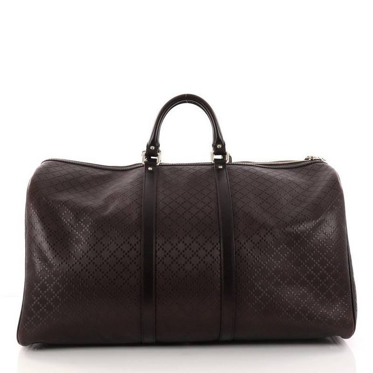 cbbda04e91e4 Gucci Bright Carry On Duffle Bag Diamante Leather Large In Good Condition  For Sale In New