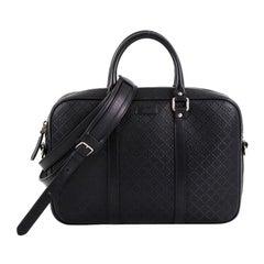 Gucci Bright Convertible Briefcase Diamante Leather Medium