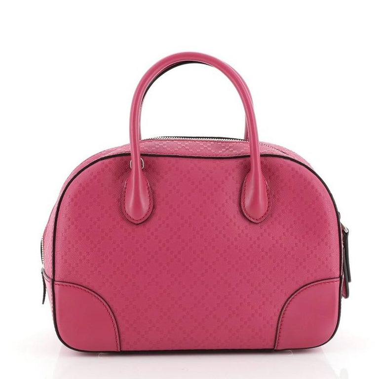 Gucci  Bright Top Handle Bag Diamante Leather Small In Good Condition For Sale In New York, NY