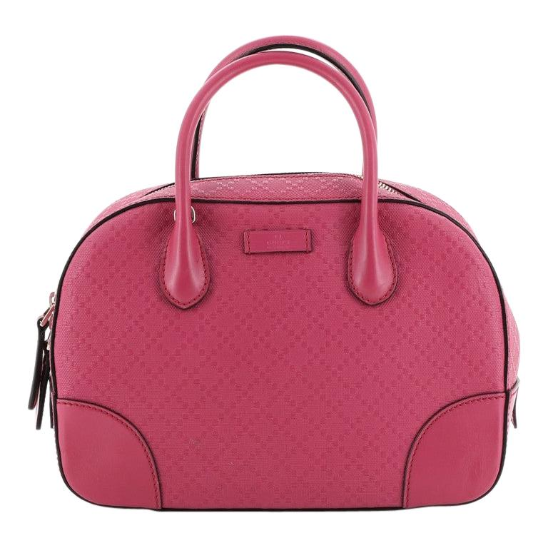 Gucci  Bright Top Handle Bag Diamante Leather Small For Sale