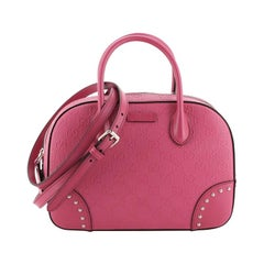 Gucci Bright Top Handle Bag Diamante Leather Small