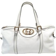 Gucci Britt Boston White Hand Bag