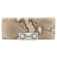 Gucci Broadway Crystal Horsebit Clutch Python