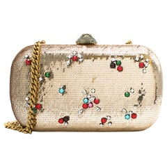 Gucci Broadway Gold Sequin Embroidered Clutch