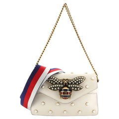 Gucci Broadway Pearly Bee Shoulder Bag Embellished Leather Mini,
