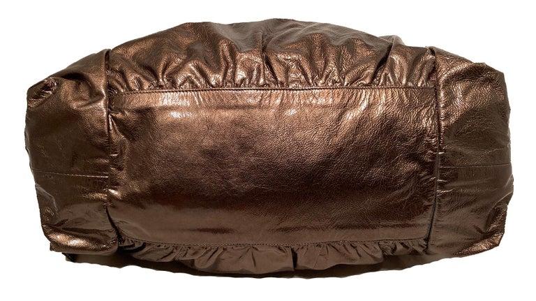 Women's Gucci Bronze Patent Leather Hysteria Bag For Sale