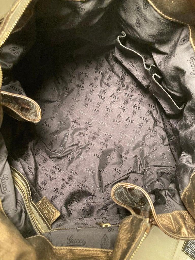 Gucci Bronze Patent Leather Hysteria Bag For Sale 3