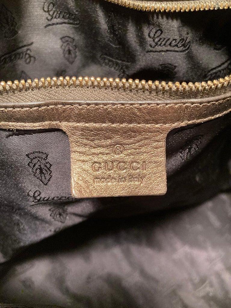 Gucci Bronze Patent Leather Hysteria Bag For Sale 4