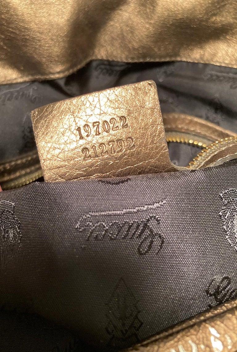 Gucci Bronze Patent Leather Hysteria Bag For Sale 5