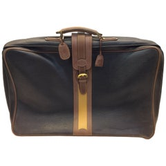 Gucci Brown and Tan Vintage Leather Large Luggage