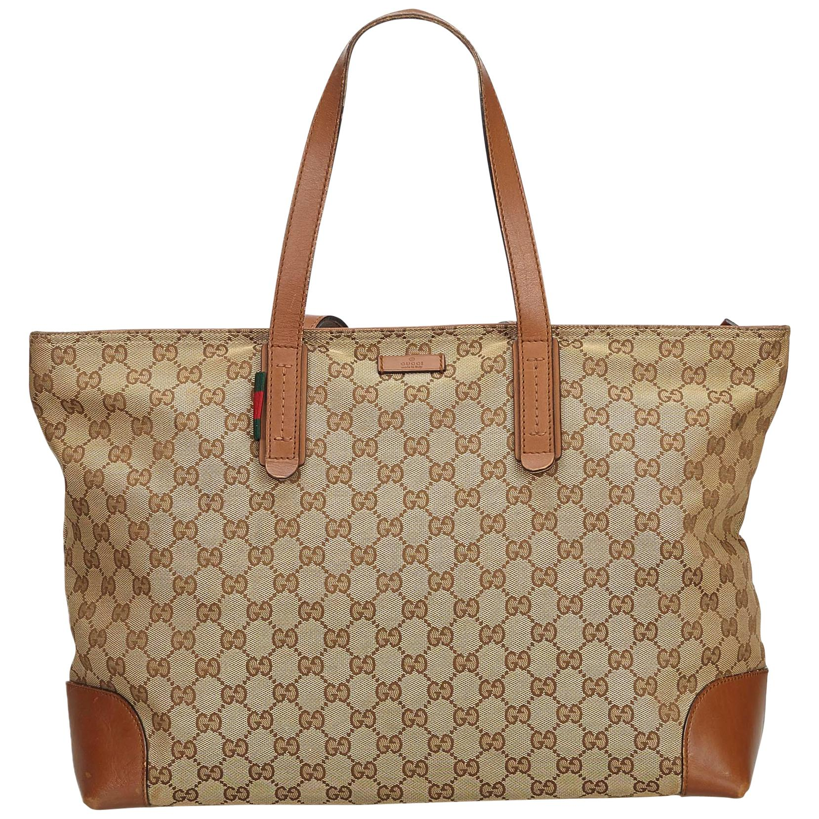 3fa1298bbc3d Gucci Reversible Gucci Reversible Tote Blooms GG Print Leather Small at  1stdibs