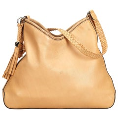 Gucci Brown Beige Leather Marrakech Shoulder Bag Italy