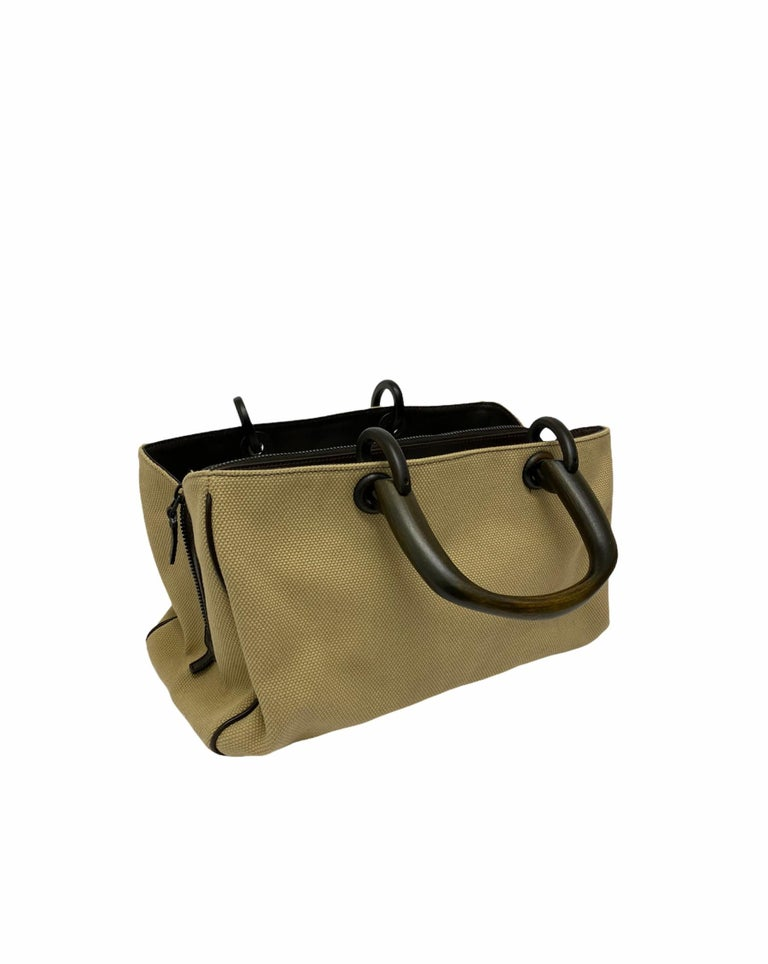 Women's Gucci Brown Canvas Bag  For Sale