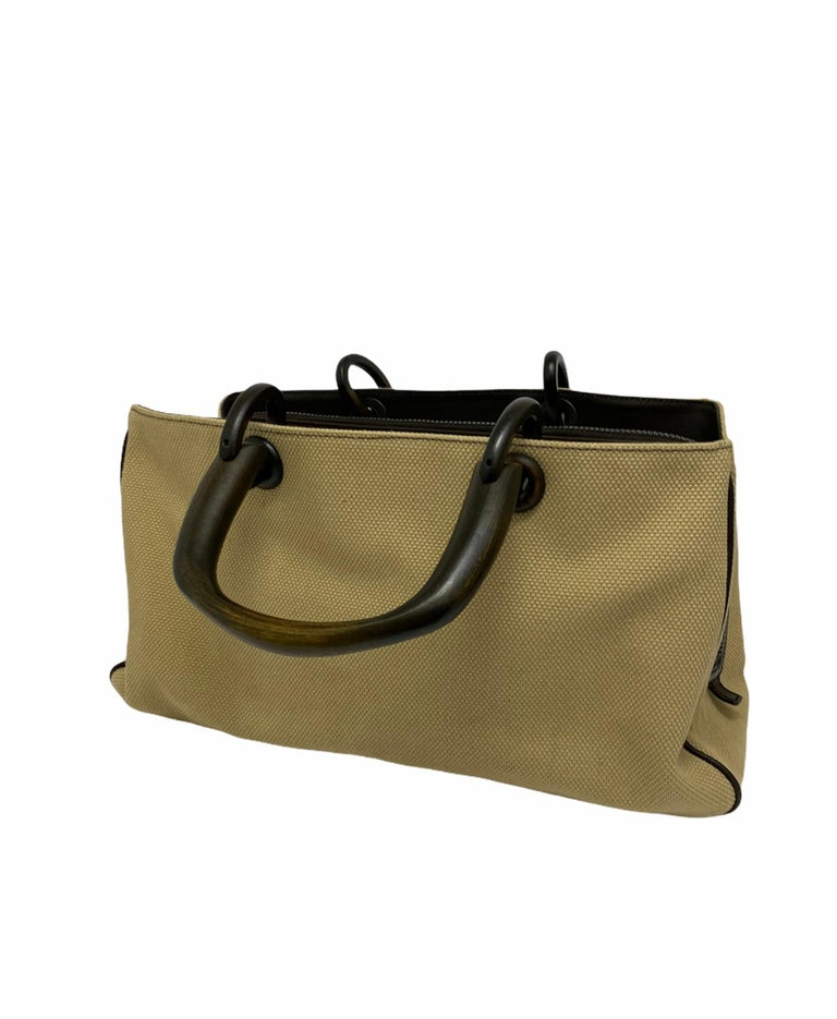 Gucci Brown Canvas Bag  For Sale 1