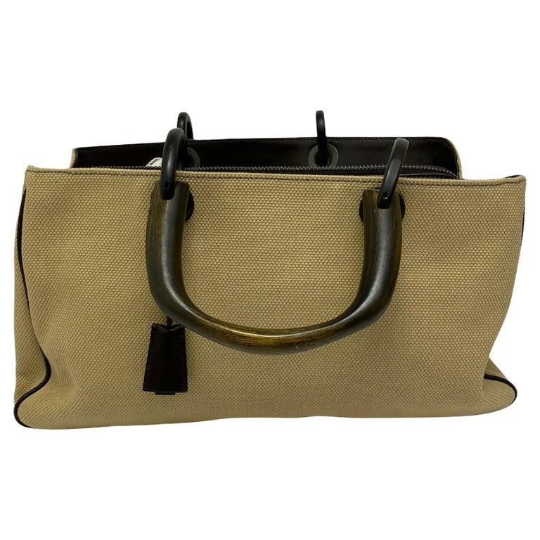Gucci Brown Canvas Bag  For Sale