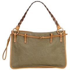 Gucci Brown Canvas Tote Bag