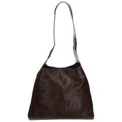 Gucci Brown Dark Brown Pony Hair Natural Material Shoulder Bag Italy