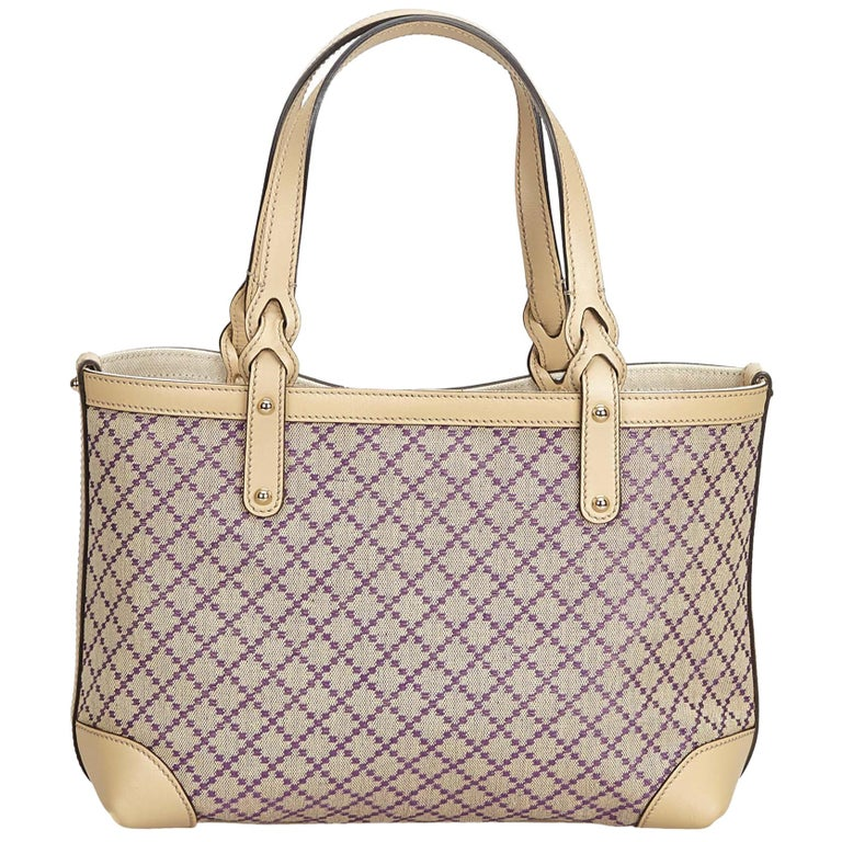 5b5f1d03f Gucci Brown Diamante Craft Tote Bag For Sale at 1stdibs