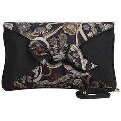 Gucci Brown Floral Print Nylon Clutch