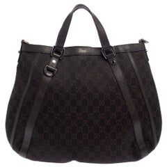 Gucci Brown GG Canvas and Leather Abbey Convertible Hobo