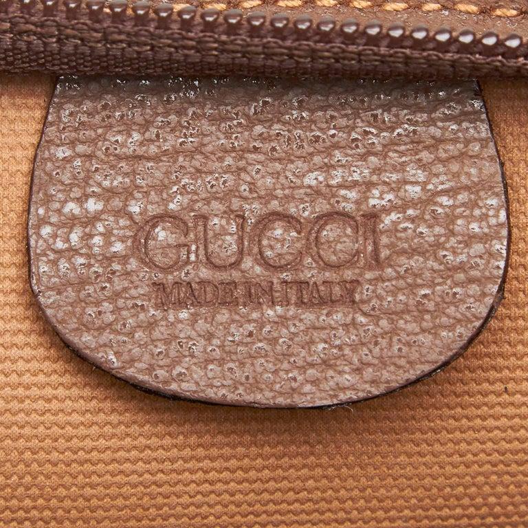 Gucci NEW Brown Nude Snakeskin GG Logo Gold KissLock