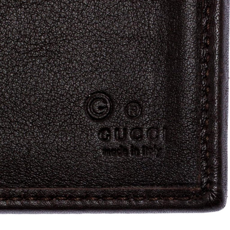Gucci Brown GG Fabric Continental Wallet For Sale 3
