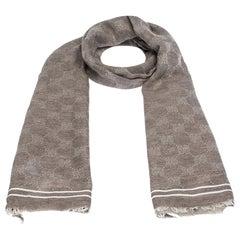 Gucci Brown GG Guccissima Monogram Cotton Scarf