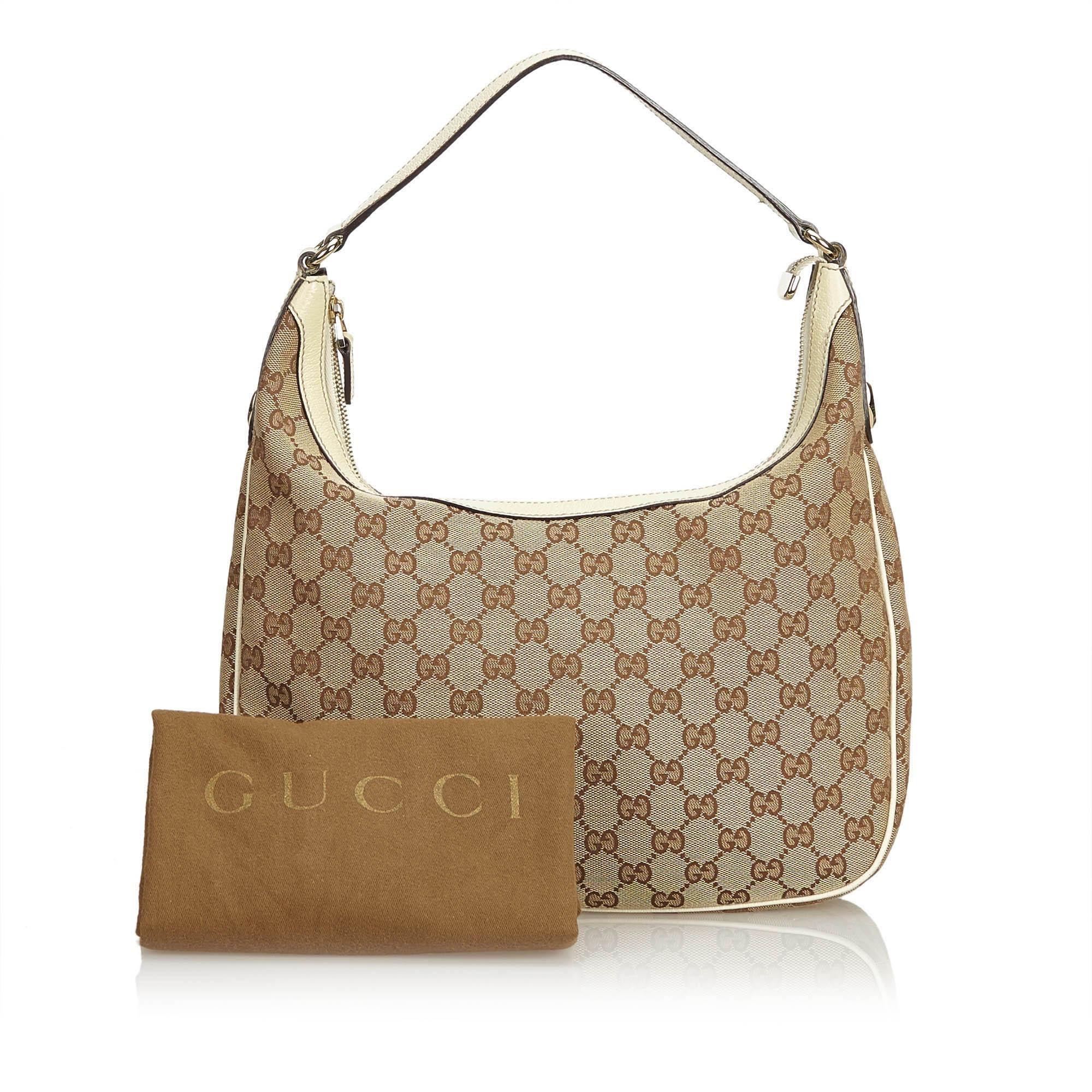 b91bde88b240 Gucci Brown GG Jacquard Hobo Bag at 1stdibs