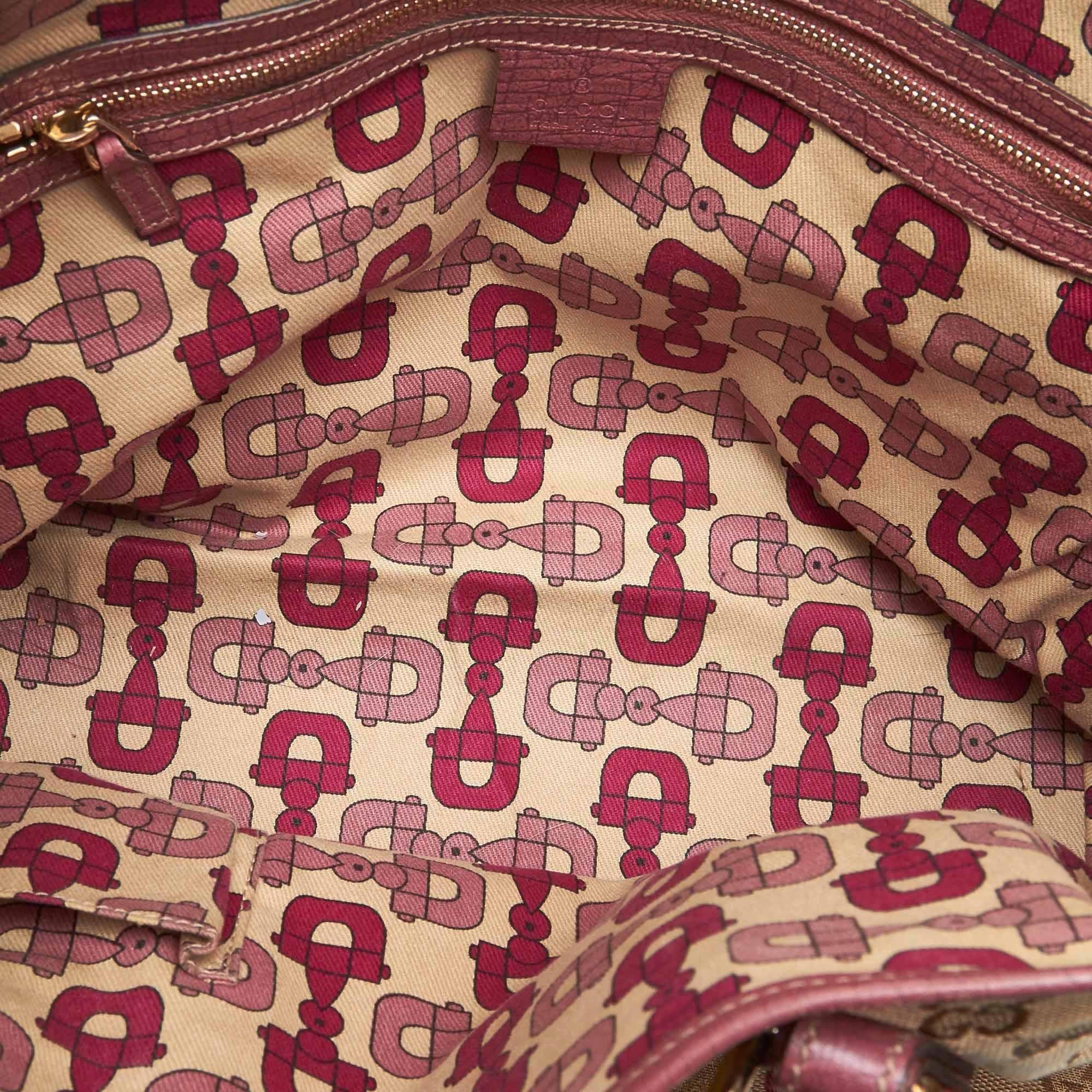 e907f34ce7c2 Gucci Brown GG Jacquard Jolicoeur Tote Bag at 1stdibs
