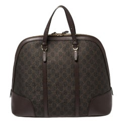 Gucci Brown GG Supreme Canvas and Leather Medium Nice Dome Satchel