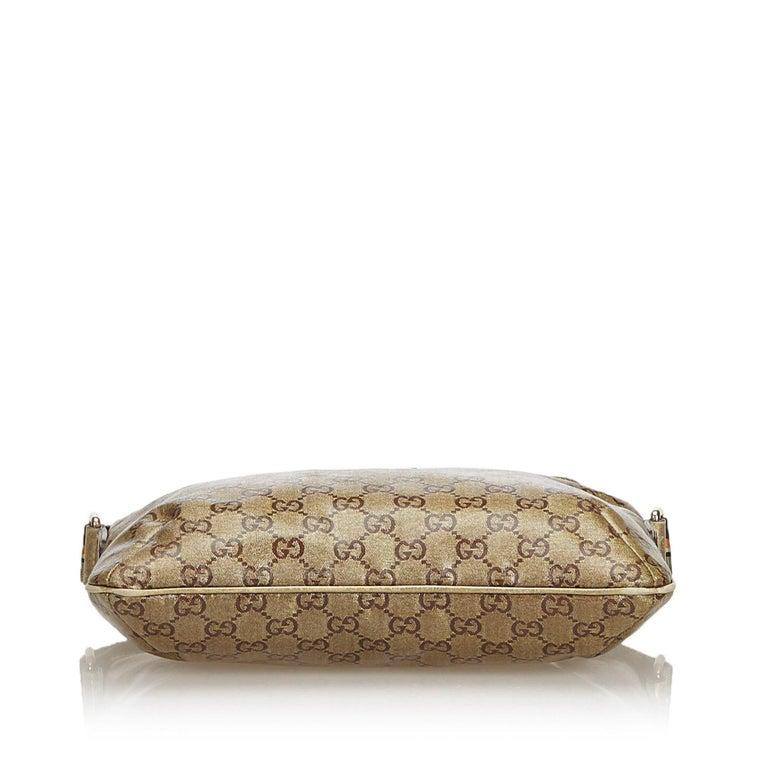 e3d45cb0e Women's Gucci Brown GG Supreme Coated Canvas Crossbody Bag For Sale
