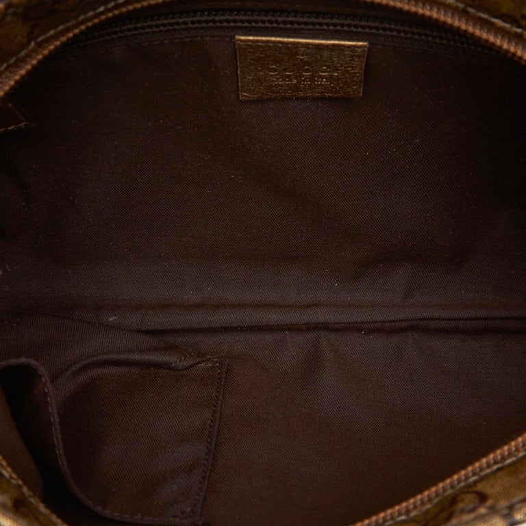 8fc31743c Gucci Brown GG Supreme Coated Canvas Crossbody Bag For Sale 1