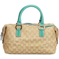 Gucci Brown Guccissima Canvas Boston Bag