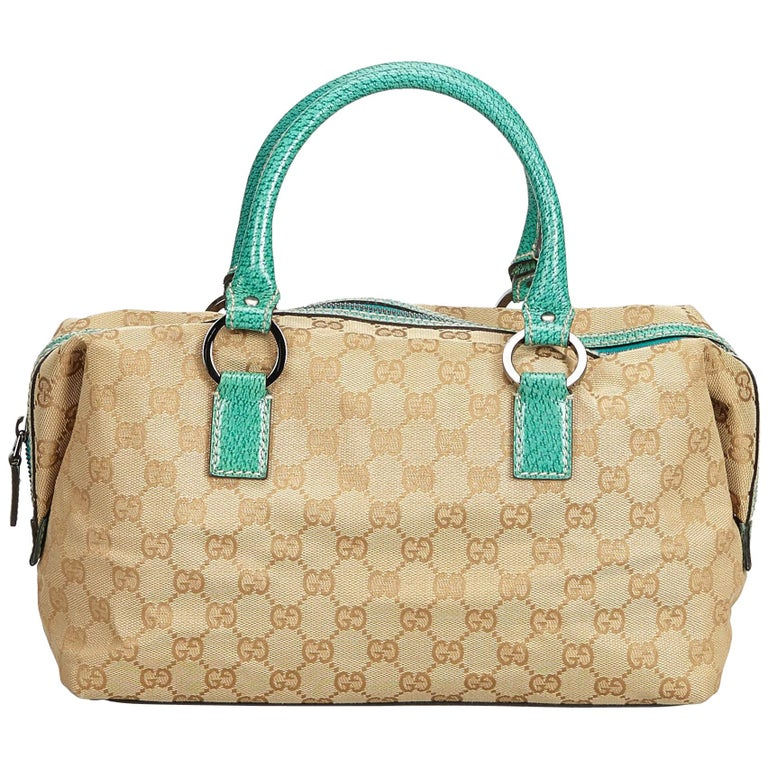 0b74b976ea5 Gucci Brown Guccissima Canvas Boston Bag at 1stdibs
