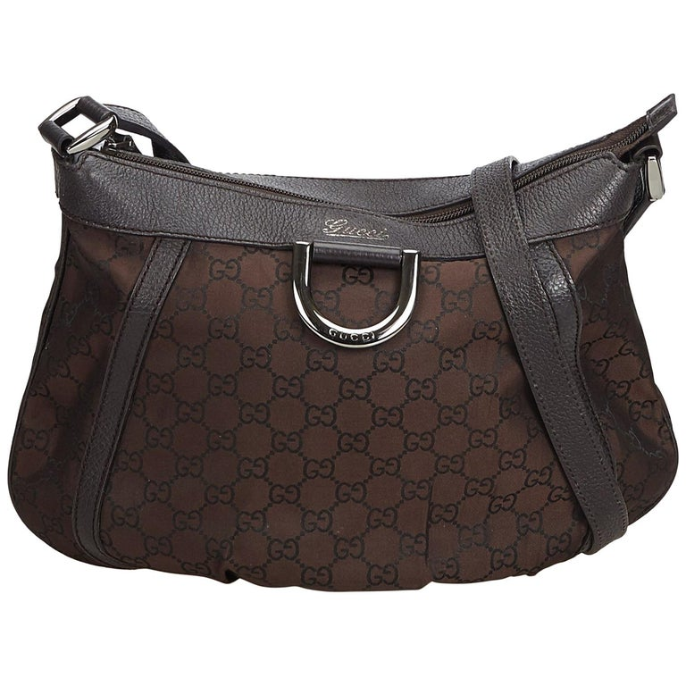 b304911f906 Gucci Brown Guccissima Canvas D-Ring Crossbody Bag at 1stdibs