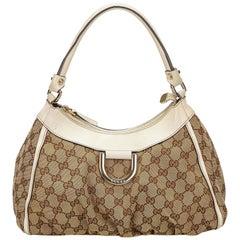 Gucci Brown Guccissima Canvas D-Ring Shoulder Bag