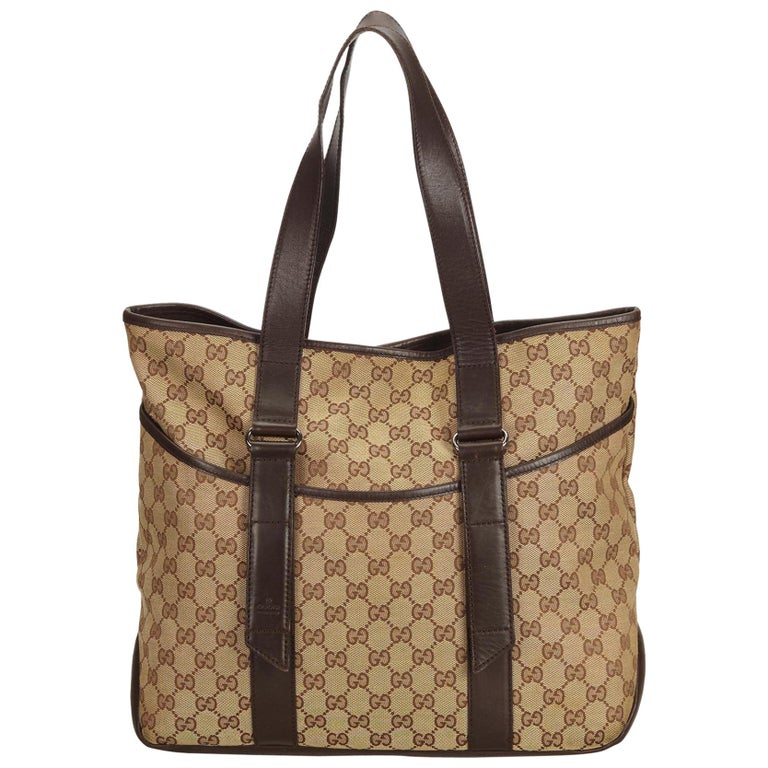 c785c439924 Gucci Brown Guccissima Canvas Tote Bag For Sale at 1stdibs