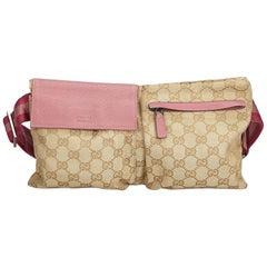 Gucci Brown Guccissima Jacquard Belt Bag