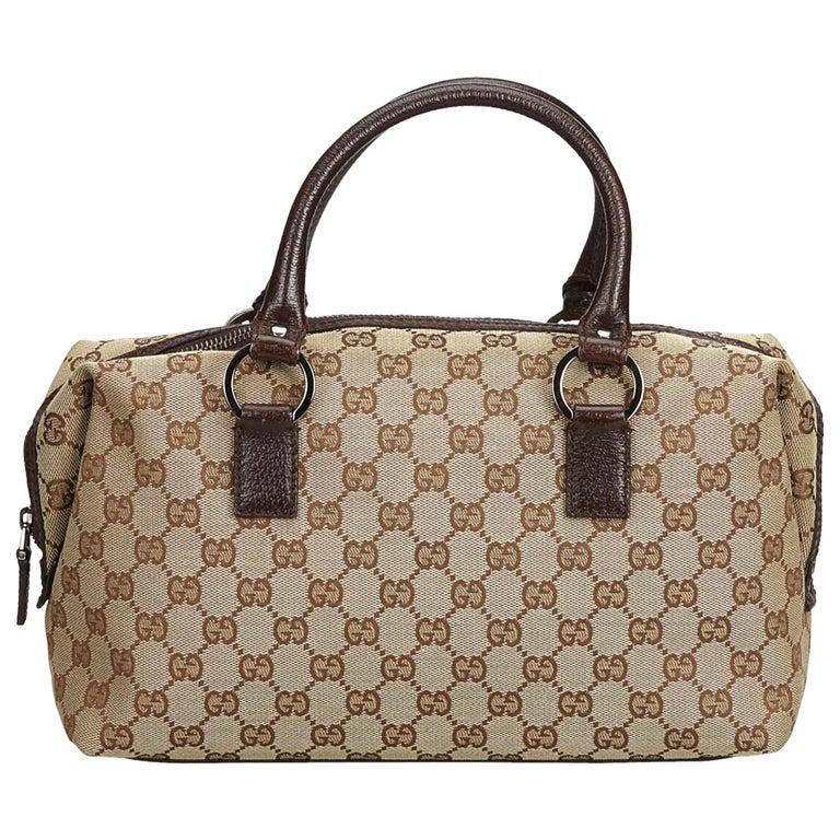 a957d9488 Gucci Brown Guccissima Jacquard Boston Bag at 1stdibs
