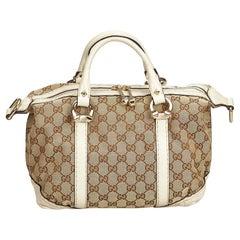 Gucci Brown Guccissima Jacquard Boston Bag